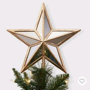 LED Lit Gold Star Tree Topper